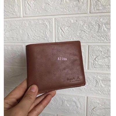 Alina 精品代購 agnes.b  簡約時尚 男款多卡位西裝夾 款式3  短夾 日本代購 Outlet限量 台北市