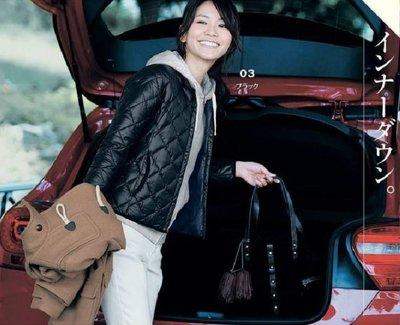 日本品牌 輕量保暖菱格壓紋短高領象牙白羽絨外套(M號)~1399起標~