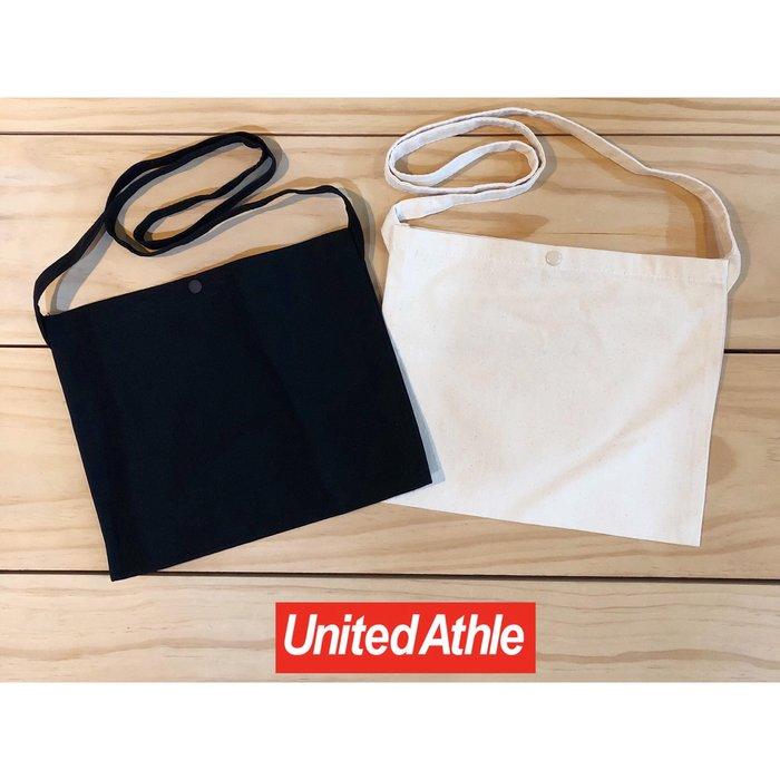 【ETW】一中店 日本 United Athle 帆布 側背小包 肩背包 米白 黑 現貨