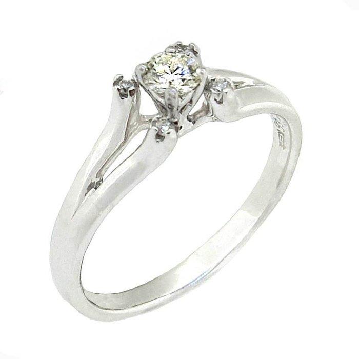【JHT 金宏總珠寶/GIA鑽石專賣】0.14ct天然鑽石戒指/材質:14K/(D000204)