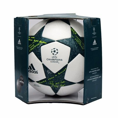 adidas愛迪達 Finale 16 Officia 歐冠杯 比賽球比賽級 5號球 室外 白綠星星 AP0374 現貨