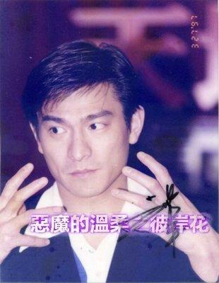 劉德華電影宣傳記者會現場活動6x8(已護貝)簽名照