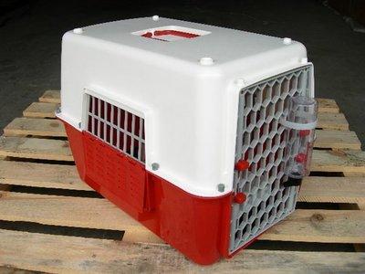 *優比寵物*皇冠NEW L款大型開窗式/窗型雙色運輸籠/提籠/手提籠/寵物籠/外出籠NO.844-w 台灣製造