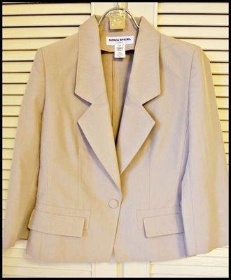 【Sonia Rykiel 】時尚針織女王桑麗卡淺駝色長袖單扣西裝長袖外套