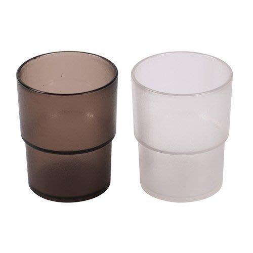 【無敵餐具】PC營業用水杯(茶色&透明色)(250cc)日式餐廳/壽司店/ 量多歡迎詢價【A0342】