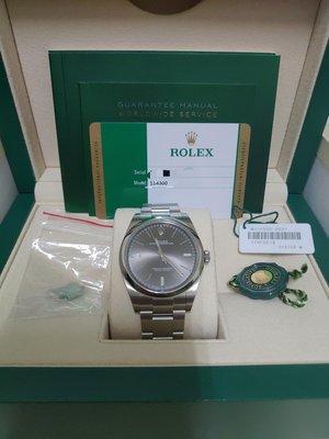 (已交流)Rolex 114300 蠔式 灰色面盤 2019/08 台灣公司貨