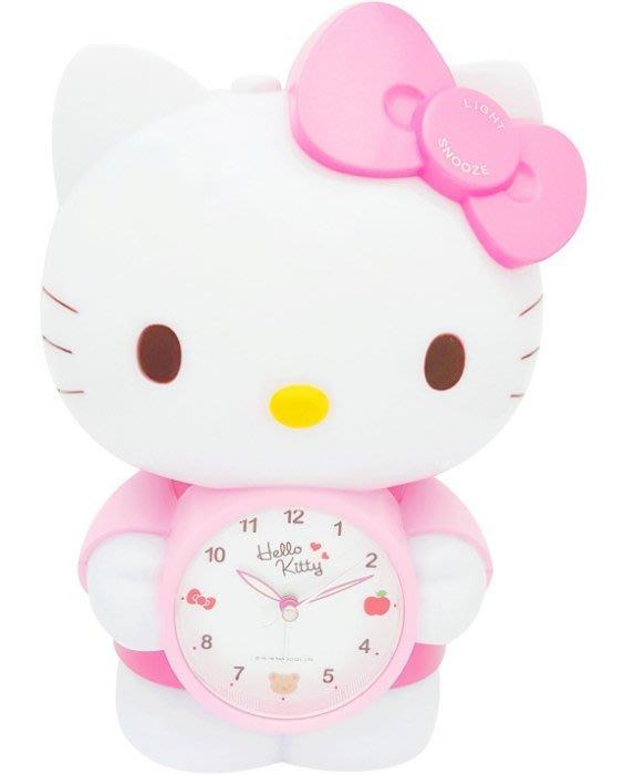41+ 現貨不必等 正版授權 凱蒂貓 造型USB 觸控小夜燈+鬧鐘 JM-F499KT粉   my4165