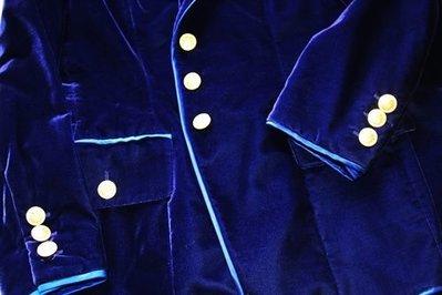 德國頂尖豪奢貴婦品牌【 ESCADA  COUTURE】 RUNWAY款紫色天鵝絨絲絨金釦套裝