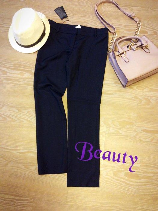 *Beauty*style by shez深藍色合身窄管西裝長褲  PH