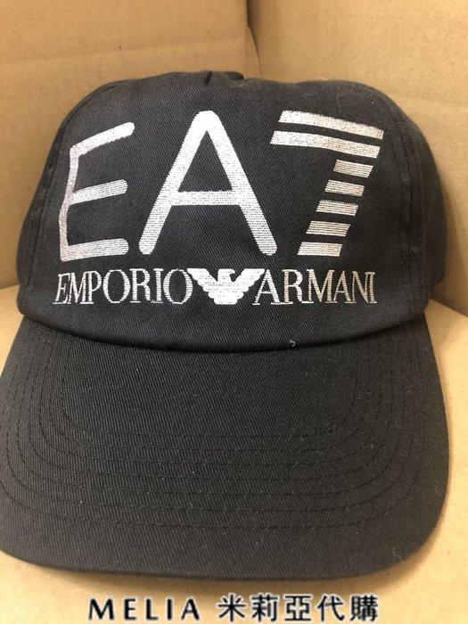 Melia 米莉亞代購 美國店面+網購 EMPORIO ARMANI 現貨 黑色 EA7大標銀色反光 質感超好