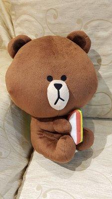 LINE FRIEND三明治熊大,中大型,日本帶回,全新品30CM,絕版珍藏