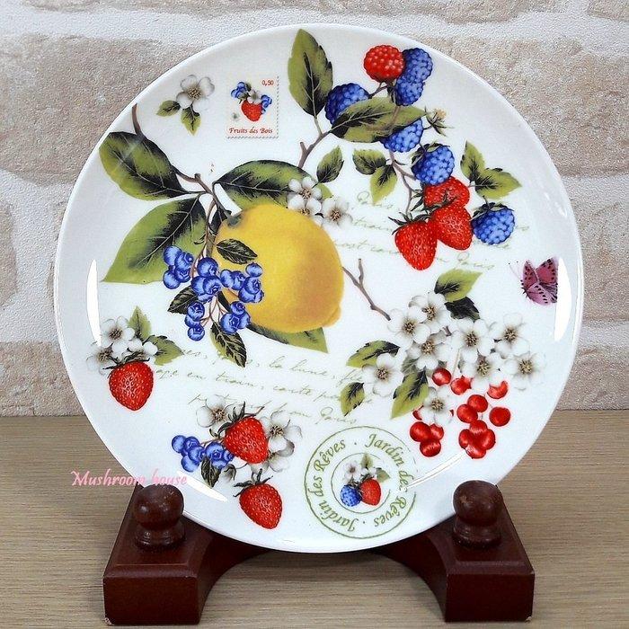 點點蘑菇屋 義大利Easy Life莓果系列骨瓷點心盤 禮盒裝 水果盤 糖果盤 甜點 現貨