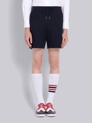 Thom Browne interlocking rwb stripe mid thigh shorts