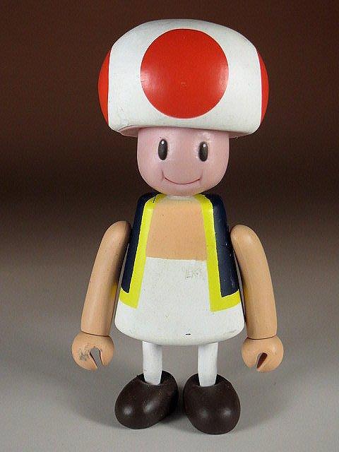 【 金王記拍寶網 】M330  SUPER MARIO 瑪莉歐系列 小木偶 公仔 奇諾比 一尊 罕見稀少