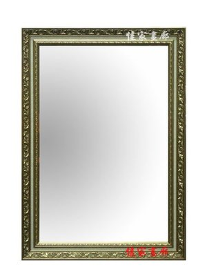 ◎『佳家畫廊』→金色雕花框【含框尺寸63*78公分】化妝鏡/玄關鏡/穿衣鏡◎訂做鏡子