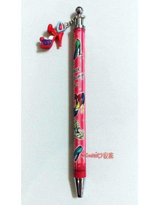 《東京家族》日本迪士尼樂園限定  白雪公主經典高跟鞋 黑色原子筆