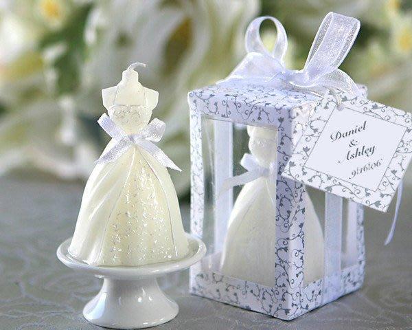 【氣球批發廣場】新娘婚紗精油蠟燭  婚禮小物  送客小禮 婚紗蠟燭 婚紗禮服蠟燭 探房禮