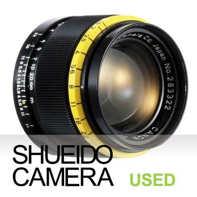 集英堂写真機【3個月保固】美品 CANON 50mm F1.8 鏡頭 LEICA L39 後塗裝 亮黃黑 20804
