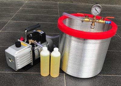 12吋高速型真空脫泡機( 飛越1/2HP二段式高真空幫浦)--矽膠/環氧樹脂/公仔/手工皂-各膠質類脫泡真空機