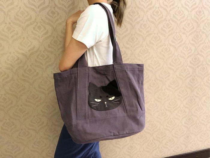 日本卡拉貓~酷酷貓系列經典托特包 購物包 側背包