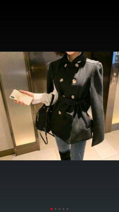 正韓東大門冬季預購款騎士風軍裝設計師外套