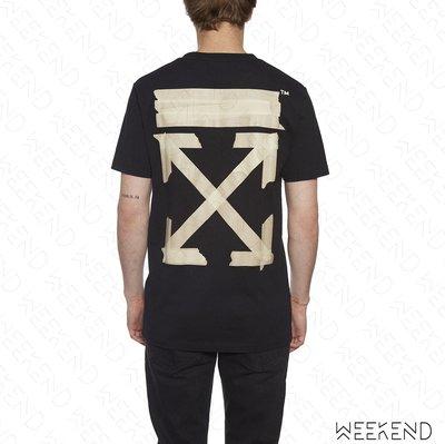 【WEEKEND】 OFF WHITE Tape Arrows 膠帶箭頭 短袖 上衣 T恤 黑色 20春夏