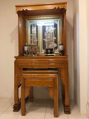 神桌加上蓋3尺6現代佛櫥 佛桌佛櫥佛龕 神明桌神明櫥 公媽櫥 原木公媽桌公媽櫥