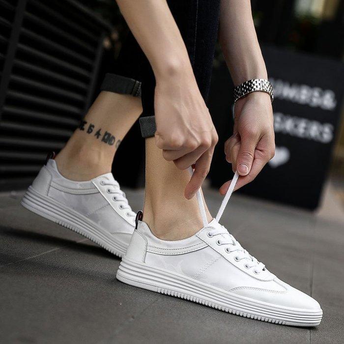 6Du spot~香港2020夏新款透氣男鞋小白鞋潮流百搭低幫厚底帆布板鞋休閑潮鞋