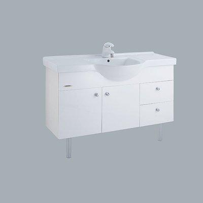 《振勝網》和成衛浴 LCS4120 120cm 抗污 臉盆浴櫃組 / 100%防水 / 不含龍頭 / 可自由搭配面盆龍頭