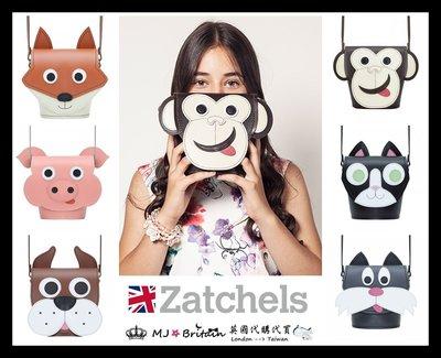 ♔MissyJ英國代購♥ Zatchels 英國手工劍橋包品牌粉紅豬貓狗狐狸猴子童趣動物造型全牛皮真皮單肩背斜背小水桶包