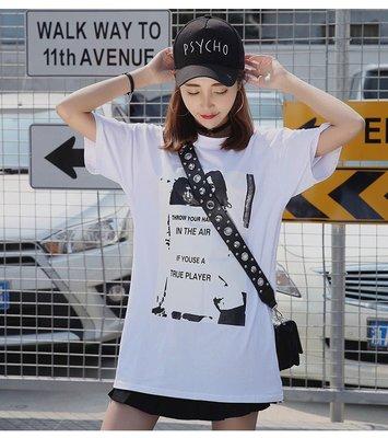 =EZZ=韓國首爾 時尚精品 東大門同步 早班車7301 纯棉短袖圓領T恤 大碼寬鬆T恤