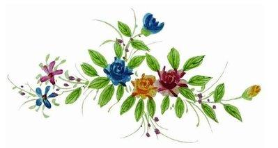 小妮子的家@手繪系列水移畫/古典玫瑰轉印貼紙/家具貼jj-313.1