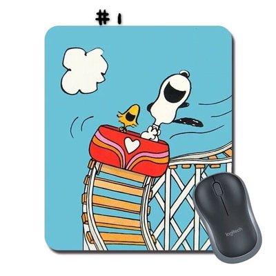 誘惑 ? 史努比 snoopy 迪士尼 可愛滑鼠墊 PVC 防滑 滑鼠墊 22x18cmx3mm 2款 現貨