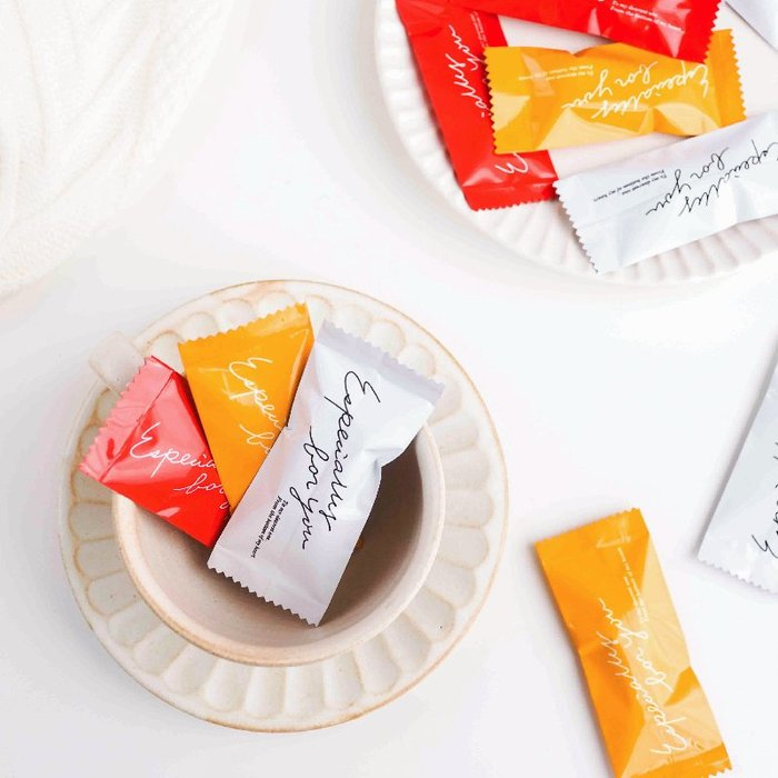 【berry_lin107營業中】牛軋糖包裝袋糖果機封袋子三色英文糖紙手工烘焙包裝袋寒天太妃糖