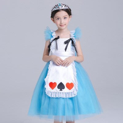 【衣Qbaby】女童#萬聖節聖誕節角色扮演服#愛麗絲夢遊仙境