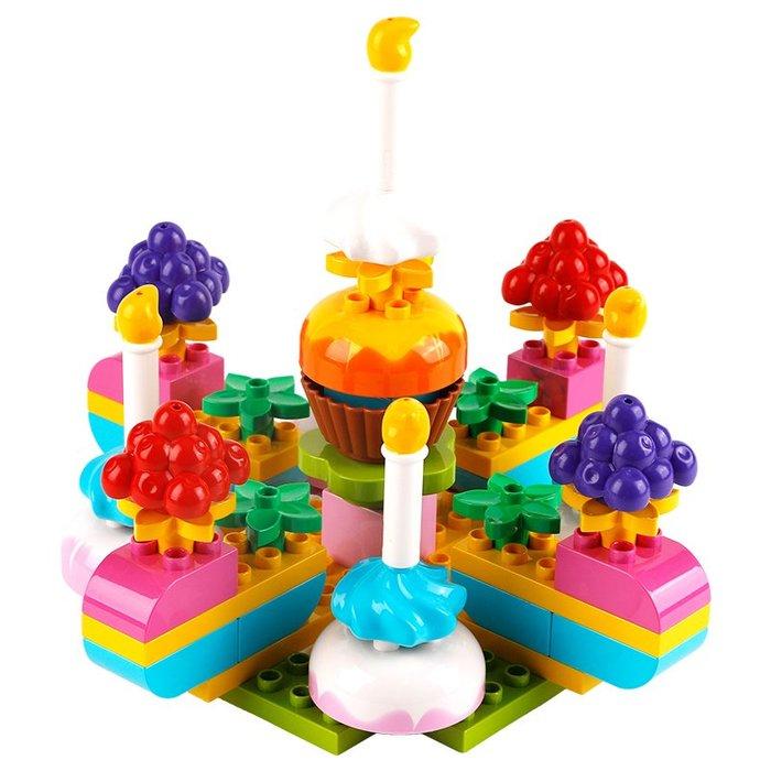 YM#爆款#小木牛兒童大顆粒積木拼裝玩具4智力3-6女孩1-2男孩7-8-10歲益智
