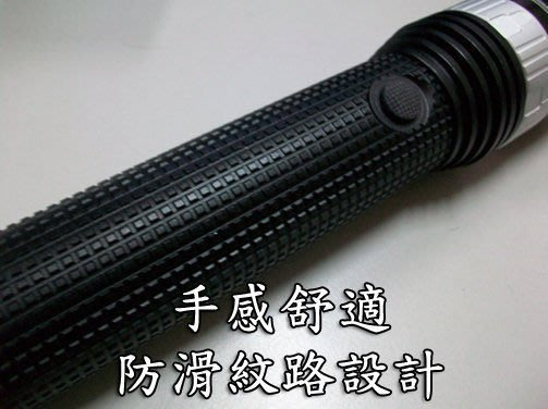 超大支硬鋁合金CREE Q5 防衛型【 旋轉變焦】強光手電筒防身棍/擊破器 警察保全消防.擊破