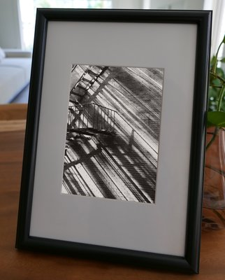 聚鯨Cetacea﹡Art【KLFZ-0117】city城市/shadow影子/stair樓梯 畫框相框