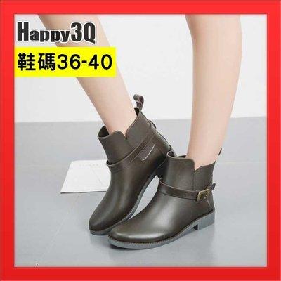 防水短靴低筒雨鞋中筒雨靴防水時尚雨靴歐美風馬靴工程靴-黑/藍/咖36-40【AAA2192】預購