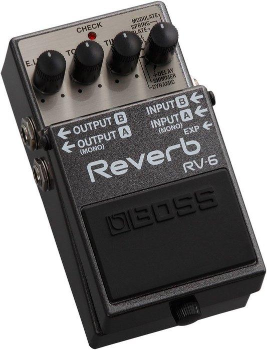 【六絃樂器】全新 Boss RV-6 Reverb 效果器 / 現貨特價