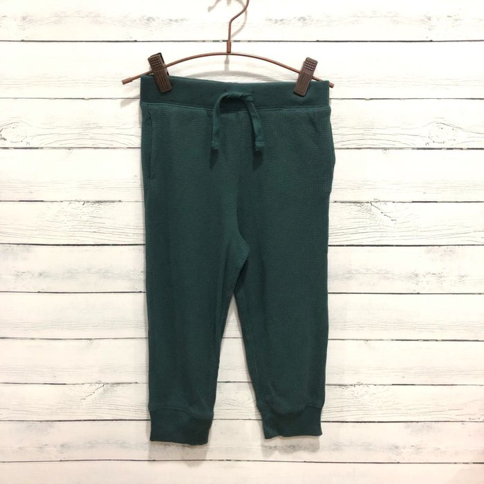 Maple麋鹿小舖 美國購買童裝品牌 baby Gap  男童款深綠色縮口長褲 * ( 現貨3號 )