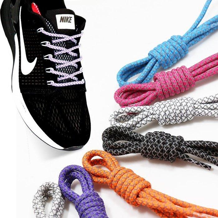 hello小店-反光鞋帶男女潮流個性運動籃球鞋aj11圓形鞋繩子黑白彩色發光#鞋帶#鞋材用品#發光鞋帶#