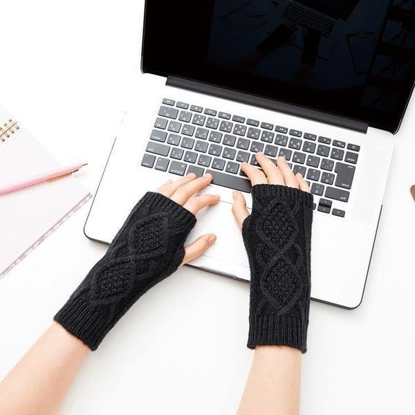 【LiuLan Box日韓生活館】日本 COGIT 溫美活 OL 保暖手套  辦公室露指手套 手套