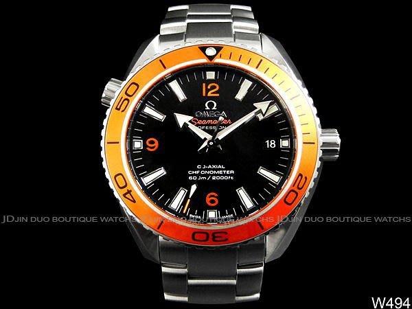 金鐸精品~W494 OMEGA 歐米茄 SEAMASTER 8500同軸橘海馬潛水600米 自動上鍊男用腕錶 全新品