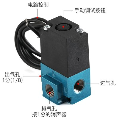 #閥類控制元件點膠機高頻電磁閥35A-ACA-DDA-DDBA/DDFA打標機換向閥真空閥DC24V