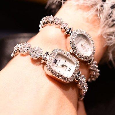 正韓專賣~蘿亞克朗royal crown時尚鋯石水鉆手鍊錶小錶盤女錶 防水手錶