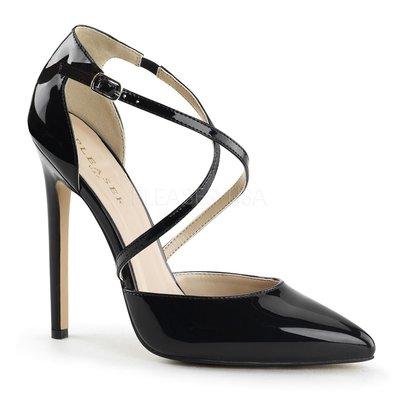 Shoes InStyle《五吋》美國品牌  PLEASER 原廠正品漆皮尖頭高跟包鞋 有大尺碼『黑色』