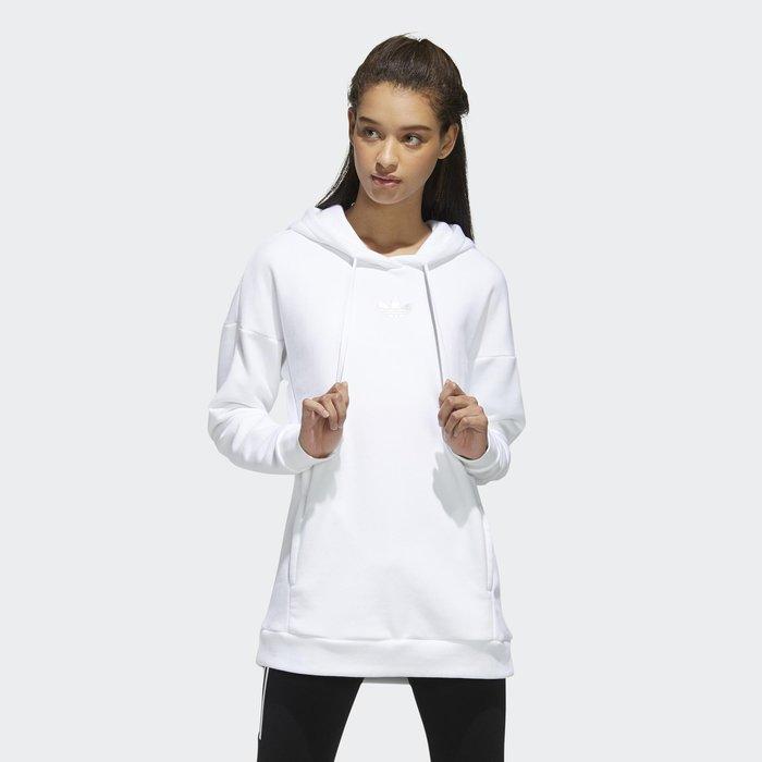 南◇2020 1月 Adidas logo 三葉草 黑色 素色 女款 連帽 帽t Gh7775 白色 白灰色 銀色