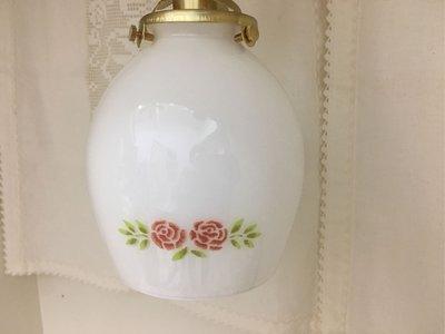 鄉村童話 Many史黛西玫瑰玻璃吊燈組 復古牛奶玻璃