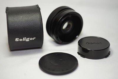 2X增距鏡 Soligor AUTO TELE CONVERTER 2X TO FIT CANON